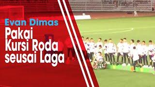 Evan Dimas Pakai Kursi Roda saat Menerima Medali Perak sesai Laga Final SEA Games 2019