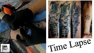 Grim Reaper Tattoo Time Lapse