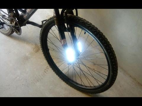 como hacer FAROS LED para tu bicicleta