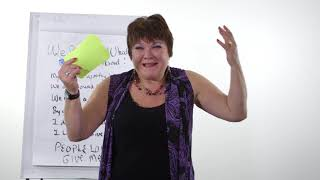"""Marcy Heim  Board fundraising ideas bad to good then sing """"People Love to Give Me Money"""""""