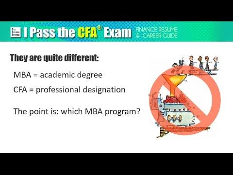 MBA vs CFA: is Finance Degree better than Certification? - YouTube