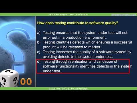 ISTQB foundation level chapter 1 Quiz part - 1
