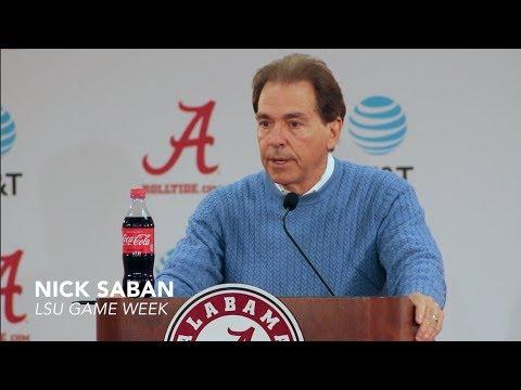 Nick Saban talks LSU turnaround, upcoming game - FULL Press Conference