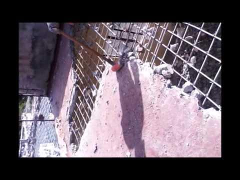 Como DEMOLER una LOSA de concreto armado de 10 cms