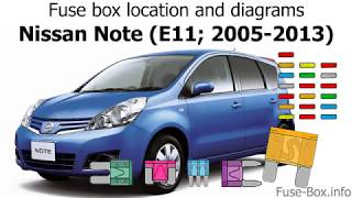 fuse box location and diagrams: nissan note (2005-2013)