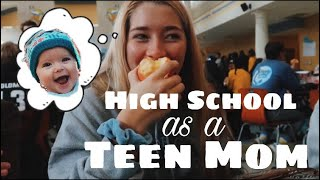 A school day in the life of a teen mom // SENIOR YEAR TEEN MOM VLOG