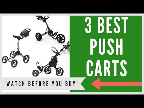 ✅ Best Push Carts For Golf -- Top 3 Of 2019
