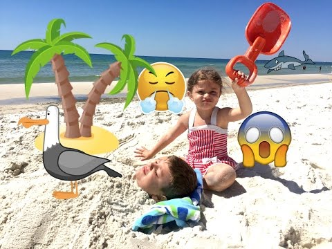 Bad Baby Gia BURIES Brother Fail Gav ALIVE At BEACH!! CrAZy PRANK!