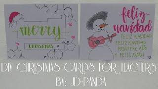DIY Christmas Cards for Teachers (Chemistry & Spanish) | JD-PANDA