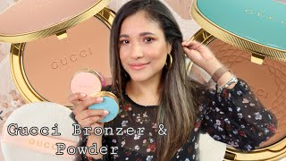 NEW GUCCI BRONZER AND SETTING POWDER REVIEW DEMO! BRONZER IN MEDIUM WITH COMPARISONS!