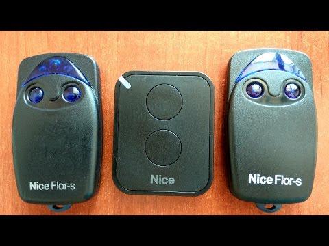 Программирование пультов Nice (Найс) Flor-s Era-Flor без доступа к приемнику