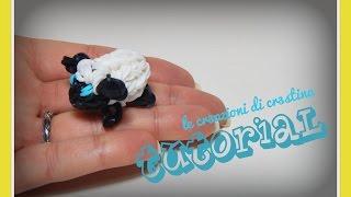 Pecorella 3D con Elastici RAINBOW LOOM Pasqua/Presepe - DIY Sheep Charm Tutorial