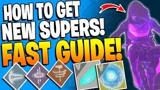 Destiny 2 - Fastest Guide To Unlock / Upgrade All New Supers Subclass Tree Perks! (FORSAKEN DLC)