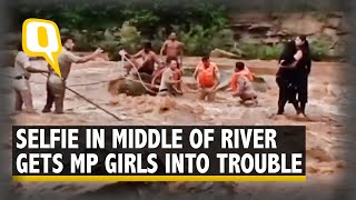 Two Girls Stuck Trying to Click Selfie in Middle of Pench River Rescued by MP Cops | The Quint  IMAGES, GIF, ANIMATED GIF, WALLPAPER, STICKER FOR WHATSAPP & FACEBOOK