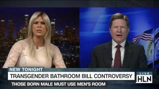Trans woman, conservative spar over N.C. bathroom law