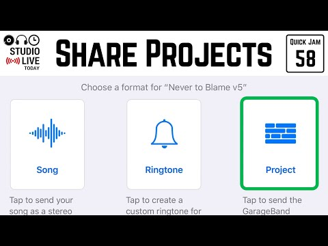 Share/export/backup your GarageBand iOS projects (iPhone/iPad