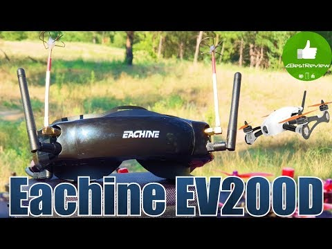 ✔ FPV Очки Eachine EV200D - Первый Обзор на Русском!