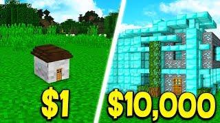 $1 HOUSE vs $10,000 MINECRAFT HOUSE!