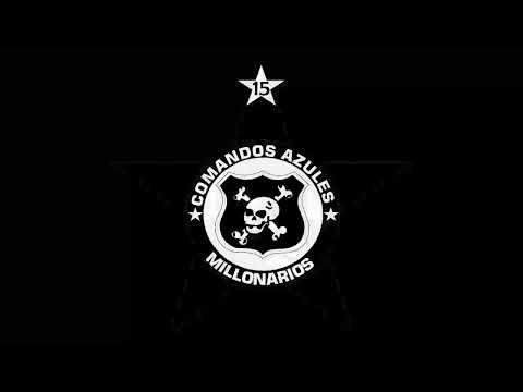 """""""SER COMANDO NUESTRA CONVICCION ☠️"""" Barra: Comandos Azules • Club: Millonarios • País: Colombia"""