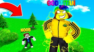 I Became a GOD TITAN and GLITCHED the Game with all Gamepasses.. (Roblox)