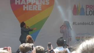 Amber Riley - Listen (Only a small part)(Live @ London Pride, July 8th, 2017)