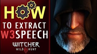 How to EXTRACT W3 SPEECH files