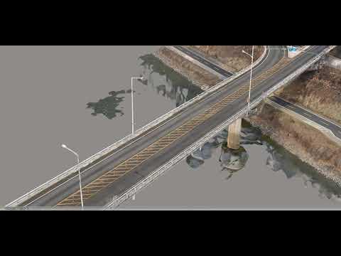 無人機通過3D飛行生成實像檢測橋樑安全
