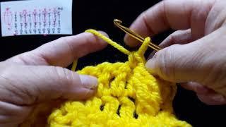 """26 Урок. Пышный столбик """"Гусиничка"""". Техника быстрого вязания. Крючок для начинающих."""