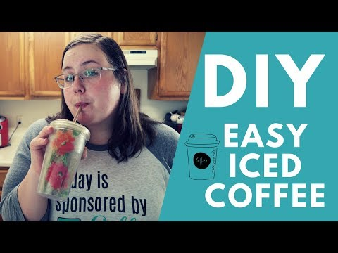 Starbucks Iced Coffee Dupe  - How to! - Frugal Family Food Coffee Month