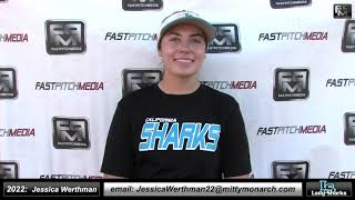 2022 Jessica Werthman 4.4 GPA Pitcher and First Base Softball Skills Video - SJ Lady Sharks