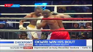 Kenya's Rayton Okwiri won against Tanzania's Guthrum Goya