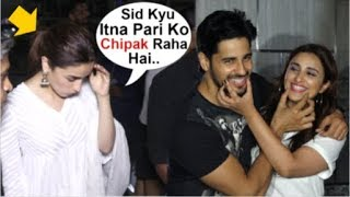 Alia Bhatt JEALOUS Seeing Ex-Bf Sidharth Malhotra FLIRTING With Parineeti Chopra @ Kalank Screening