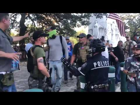 Predictably, Police Protect Armed American Fascists