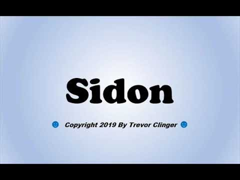 Download How To Pronounce Sidon Mp4 HD Video and MP3