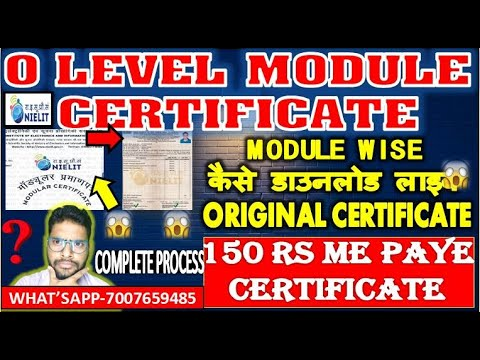 Nielit Doeacc O Level Module Wise Certificate Full Process In Hindi ...