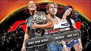 WWE 2K15 - Raw Custom Intro 2014/2015 - Universe Mode (HD)