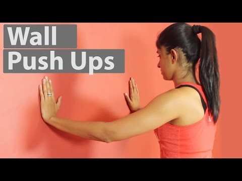 Wall Push Ups For Beginners | How To