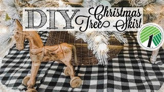 DIY Dollar Tree Christmas Tree Skirt  | EASY NO-SEW