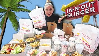 We ordered EVERYTHING on the 'IN N OUT' fast food MENU!!!