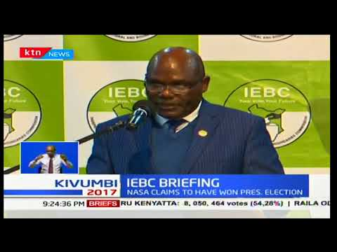 Wafula Chebukati responds to NASA's claims of IEBC technology being hacked
