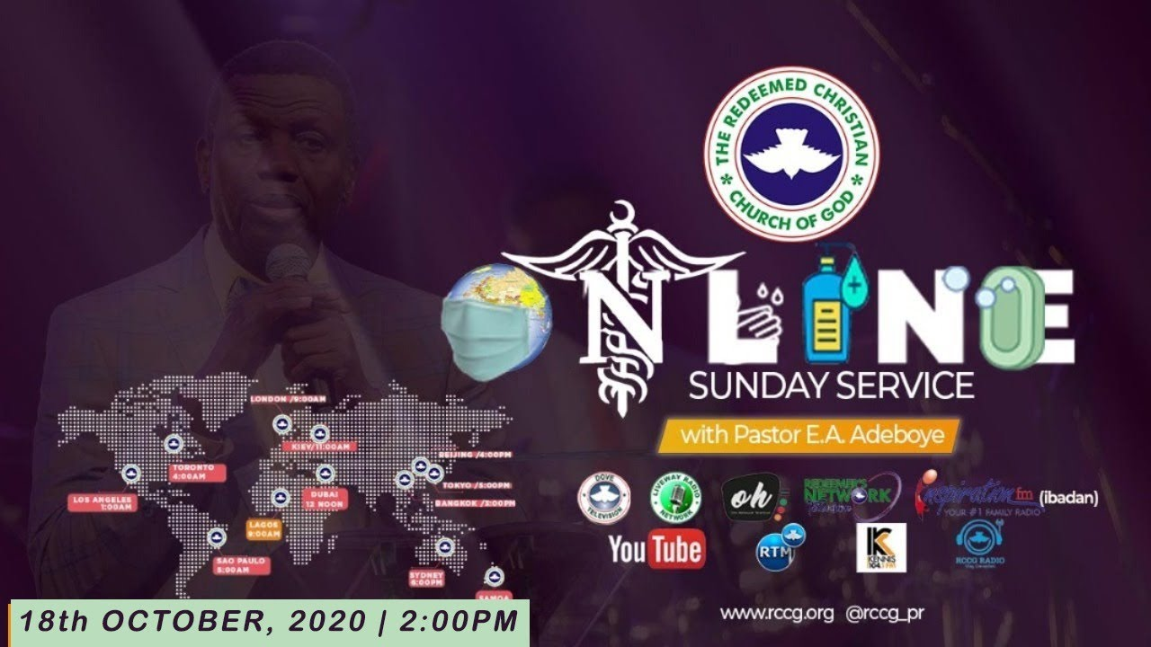 RCCG Live Sunday Service 18th October 2020 with Pastor E.A Adeboye
