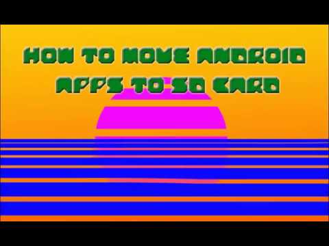 Move apps to SD card on Android devices (easy)