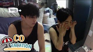 [Co-Vacation: Xiumin & Daniel] Xiumin Looks Hypnopompic In The Morning 20170904