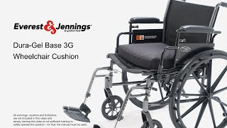 Everest & Jennings Dura-Gel Base 3G Cushion Youtube Video Link