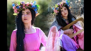 HOW TO LOOK LIKE A FANTASY CHARACTER | Includes Flower Crown And Cloak Tutorial