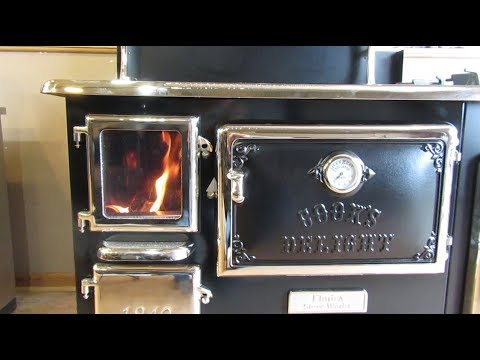 Elmira Fireview Wood Cookstove - Burning the Stove