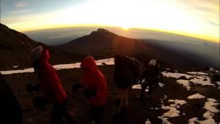 Ultimate Kilimanjaro Climbers Approaching Kilimanjaro Summit at Sunrise