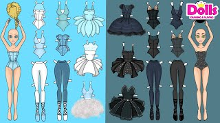 PAPER DOLLS BALLERINA DRESS UP DRAWING & PLAYING PAPER CRAFT
