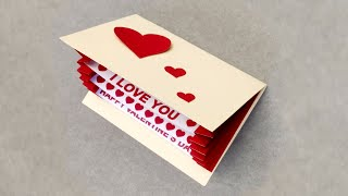 How to Make Valentine Cards _ Valentine Cards Handmade Easy _ Valentine Day Card