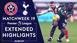 Sheffield United v. Tottenham | PREMIER LEAGUE HIGHLIGHTS | 1/17/2021 | NBC Sports